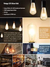 dimmable edison led bulb kohree 6w vintage led filament light