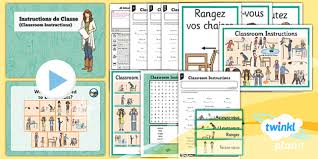 french all about me classroom instructions year 3 lesson pack