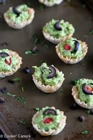 canape cups recipes mini guacamole tomato olive recipes healthy snack cookin canuck