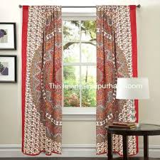 Picture Window Drapes Mandala Hippie Tapestry Curtains U0026 Window Door Drapes Valances