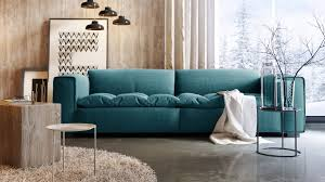 design canapé canapé design 3 places avec assise tissu matelassée storra
