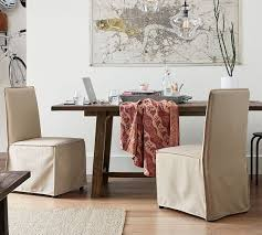 slipcovered dining chair carissa slipcovered dining chair pottery barn