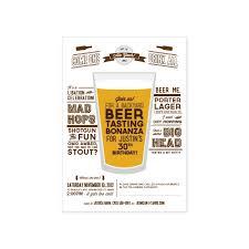 Backyard Birthday Party Invitations by Printable Beer Tasting Party Invitation 15 20 Via Etsy