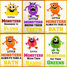 Free Printable Bathroom Art 5 Potato Print Monsters For Kids Free Printable Artsy Craftsy Mom