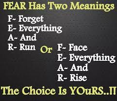 motivational quote running fear acronym christian acronyms pinterest qoutes