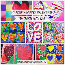 7 artist inspired valentines to create with kids