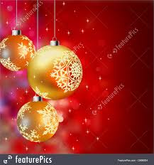 background with gold baubles