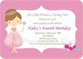 Princess Invitation Card Sample Of Invitation Card Alesi Info