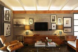 basement ideas man cave family room midcentury with living room