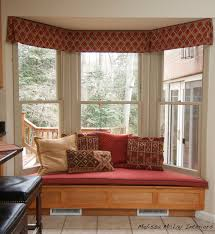 Kitchen Bay Window Seating Ideas by Bay Window Seat Cushion Trapezoid Cushions Decoration