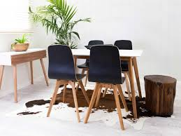 Cowhide Dining Room Chairs Mocka Faux Cowhide Rug Black White With Maya Trio Scandi Love