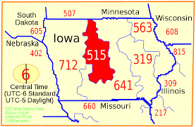 Central Ohio Zip Code Map by Area Code 515 Wikipedia