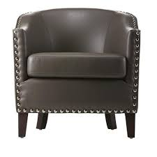 Home Decorators Collection More Pebble Grey Bonded Leather Club