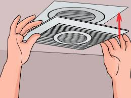 How To Install A Bathroom Exhaust Fan With Light How To Install A Bathroom Fan With Pictures Wikihow