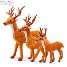 christmas deer fengrise plush christmas reindeer elk plush simulation new