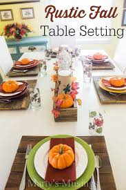 Fall Table Settings Table Setting