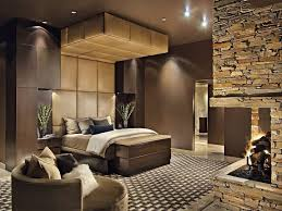 fireplace for bedroom contemporary master bedroom with flush light stone fireplace