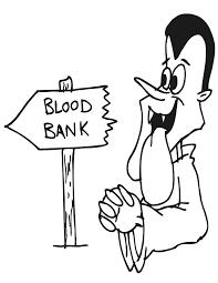 vampire coloring vampire blood bank