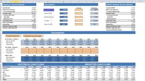 Discounted Flow Analysis Excel Template Bloomberg Discounted Cashflow Analysis Dcf Fintute