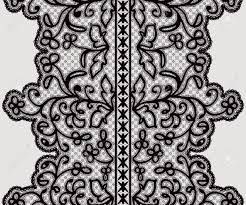 wide lace ribbon seamless wide lace ribbon with delicate flowers vector