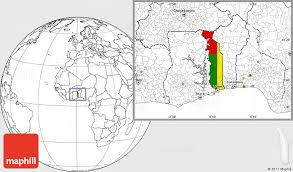 togo location on world map flag location map of togo blank outside