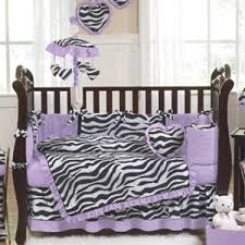 Animal Print Crib Bedding Sets Purple Black And Zebra Print Crib Baby Bedding Set For Newborn
