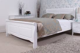 4ft Wooden Bed Frame Serene Amelia 4ft Small White Wooden Bed Frame By Intended