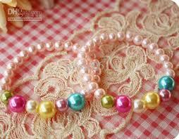 beaded bracelet girl images 2018 fashion kid baby girl pearl bracelets colorful princess charm jpg