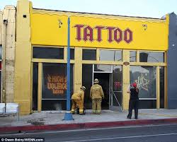 la ink star kat von d outside famed tattoo shop after blaze
