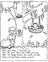 free printable nursery rhymes coloring pages for kids