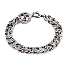 bracelet chain images Interlocking g chain bracelet in silver gucci silver bracelets jpg