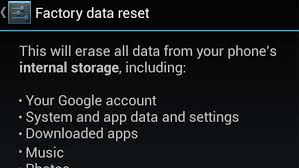 factory reset android factory reset your android device what to be aware of android