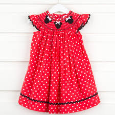 mouse ears dress red polka dot smocked auctions