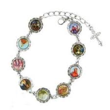 saints bracelet catholic religious bracelet womens saints bracelet