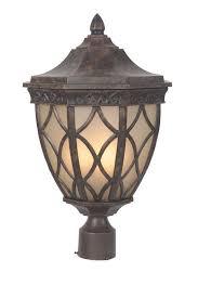 Outdoor Lighting Posts - craftmade z7225 evangeline 3 light outdoor post light peruvian
