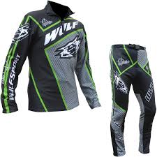 kids motocross gear combo wulf arena cub black green trials kit wulfsport kids motocross top
