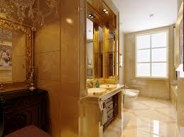 cream wall paint color combined ceramic wall elegant bathroom