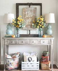 decorating a console table in entryway interior design ideas