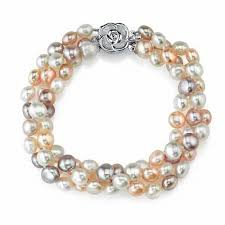 rose pearl bracelet images 6 0mm multi color cultured freshwater pearl bracelet with sterling jpg