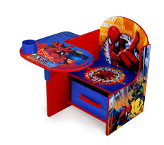 disney chair desk with storage amazon com delta enterprise spiderman chair desk with storage bin