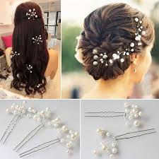 flower headpiece sunshiny 6pcs wedding bridal bridesmaid pearl flower