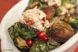a feast for the roasted brussels sprouts with pomegranate