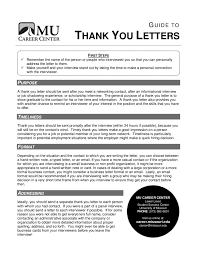 Thank You Letter After Interview Current Employer Thank You Letter How To Write A Thanks Letter