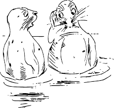 free illustration sketch drawing otter free image on pixabay