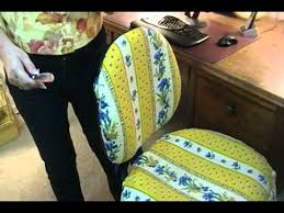 Office Armchair Covers Diy Easy Way To Cover Office Chairs Joni Hilton Youtube