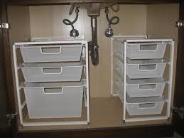 Under Cabinet Shelving by Under Bathroom Sink Storage Bathroom Storage Cabinet Organizer