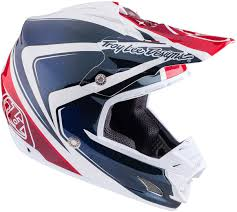 blue motocross helmets troy lee designs 7850 troy lee designs se3 neptune red white blue
