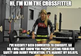 Crossfit Meme - kim the crossfitter imgflip