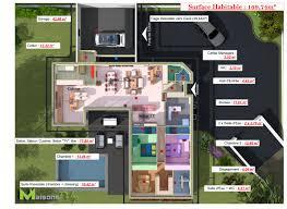 plan maison plain pied en l 4 chambres plan maisons dulap