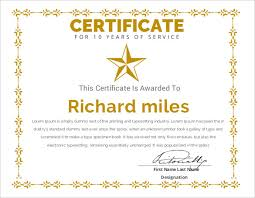 certificate of service templates to download for free